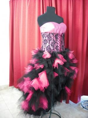 Vestido de 15 fucsia