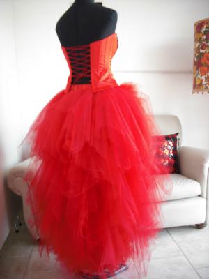 Vestido Rojo Bordado