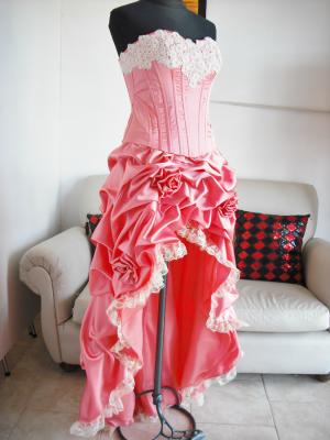 Vestido Quince-Corset Bordado