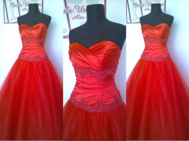Vestidos de 15 rojos